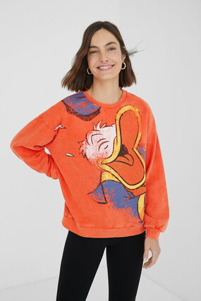 Donald Duck plush sweatshirt