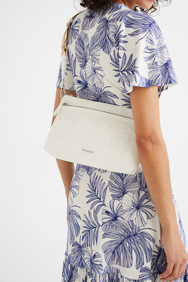 Crossbody bag embroidered flowers | Desigual
