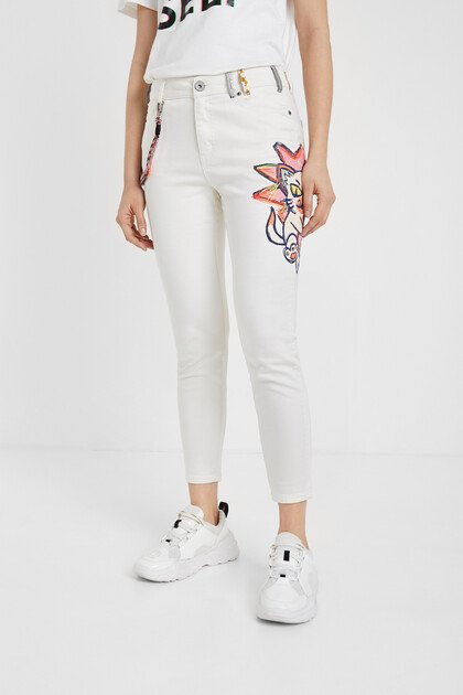 Skinny illustration jeans
