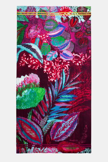 Foulard rectangulaire fleuri | Desigual