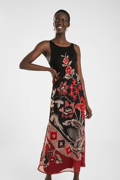 Mouwloze jurk met rugdecolleté