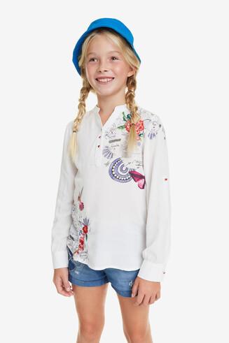 Shirt wit V-hals Bolimanía Braco