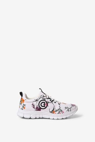 Sportieve sneakers met bloemenprint