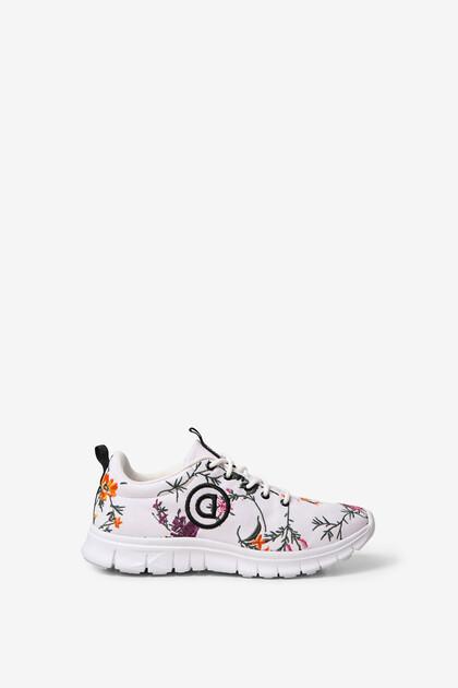 Floral print sport sneakers
