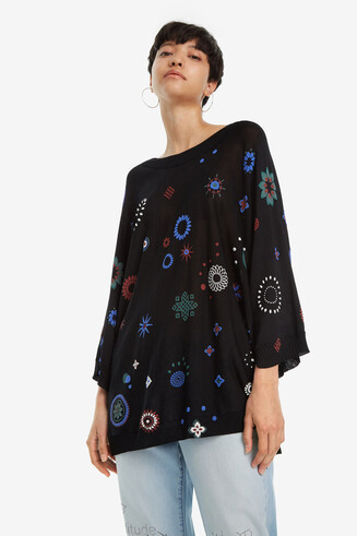 Long-Sleeved Oversize Jumper Berna
