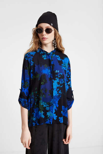 Floral camouflage shirt