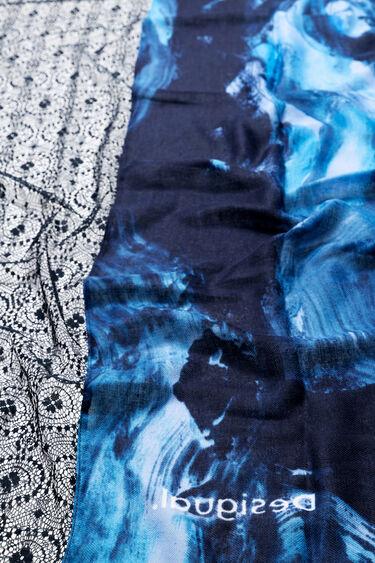 Blaues rechteckiges Tuch | Desigual
