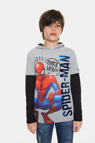 T-shirt Spider-Man à double manche