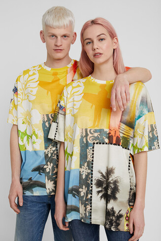 Unisex Hawaiian patch T-shirt