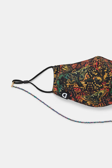 Butterflies face mask + little chain + pouch | Desigual