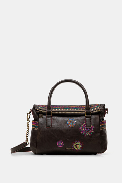 Embroidered briefcase bag