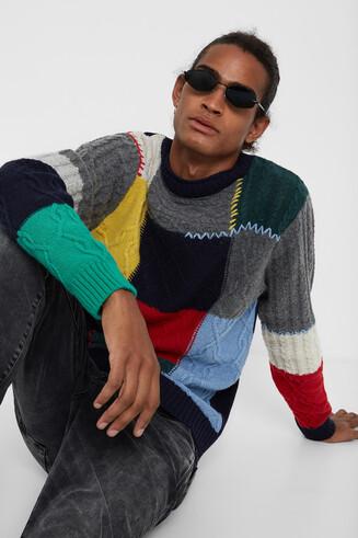 Braided tricot jumper
