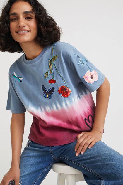 T-shirt tie-dye flores