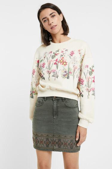 Minifalda vaquera bordados | Desigual