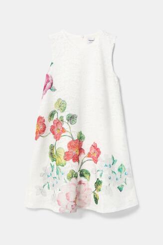 Sukienka z koronki w kwiaty