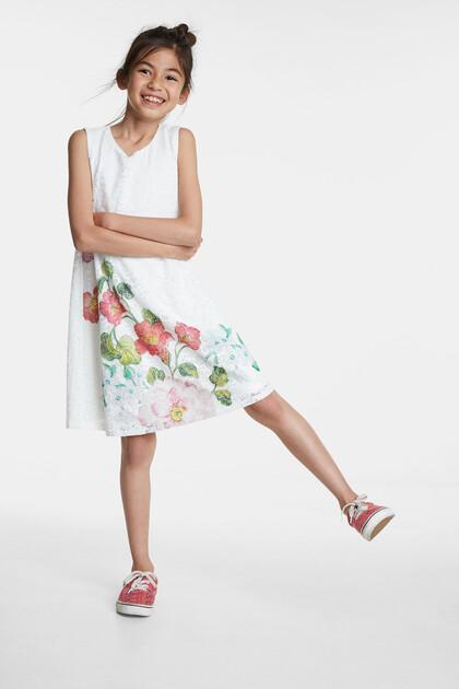 Kleid mit blumiger Spitze