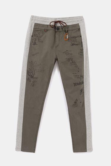 Pantalons híbrids de pelfa i texà   Desigual