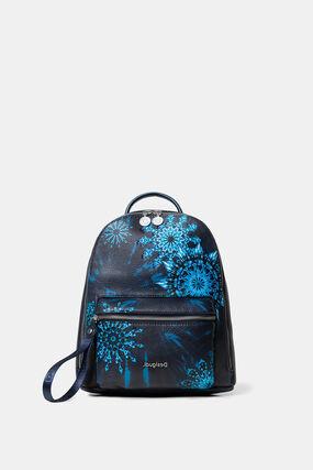 Mini sac à dos mandalas bleus