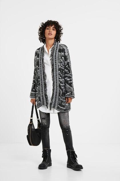 Jaqueta oversize tricot