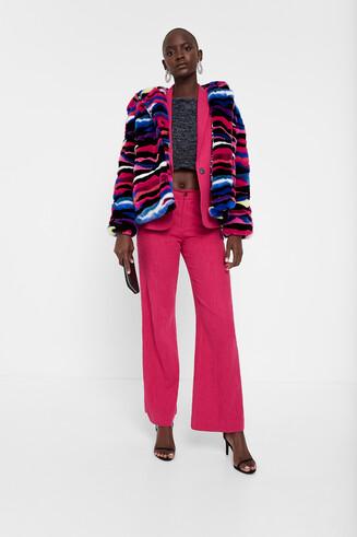Plush hood jacket
