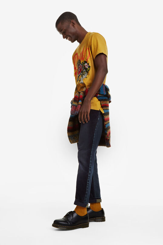 100% cotton T-shirt with embroidery | Desigual