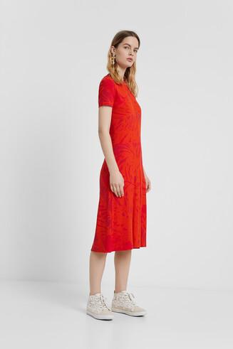 Robe éco-friendly à imprimé fleuri