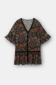Short dress flounces | Desigual