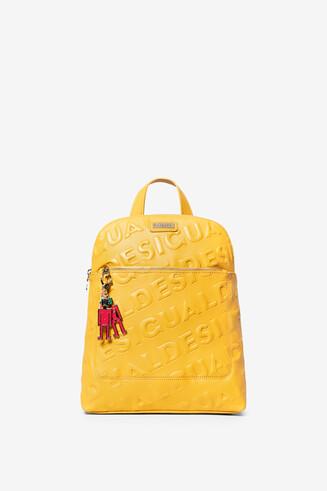 Mochila amarilla logo relieve Nanaimo
