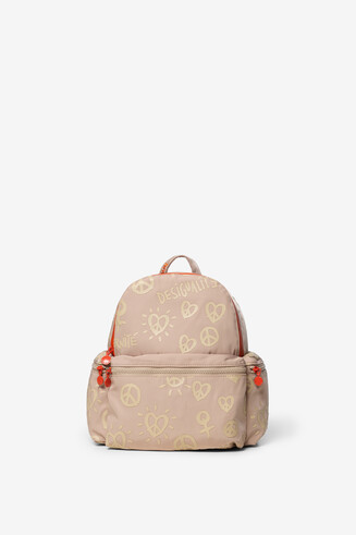 Peace and love Desigualité backpack