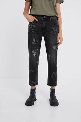 Mickey Mouse boyfriend jeans