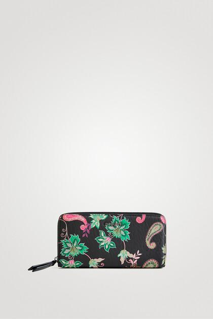 Long coin purse paisley