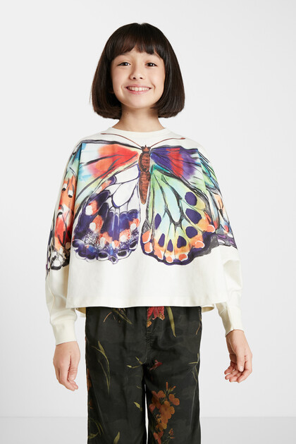 Oversize sweatshirt butterfly