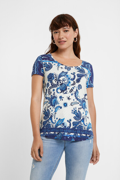 T-Shirt mit Paisley-Muster
