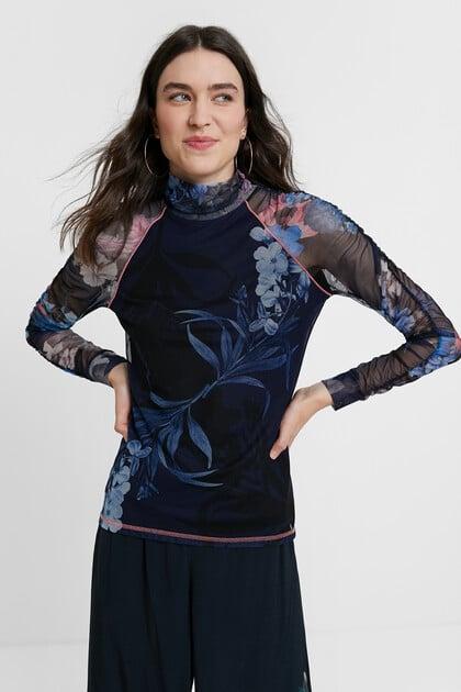 T-shirt slim floral