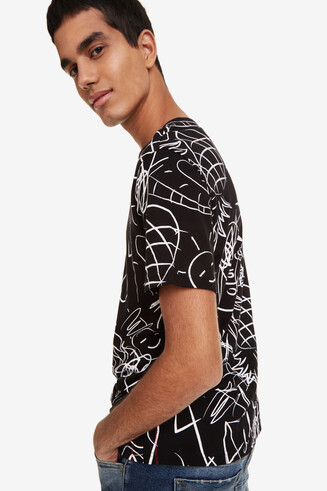 Tropical print T-shirt Bruno