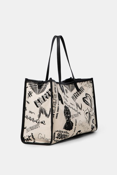 Shopping Bag Canvas Muster | Desigual