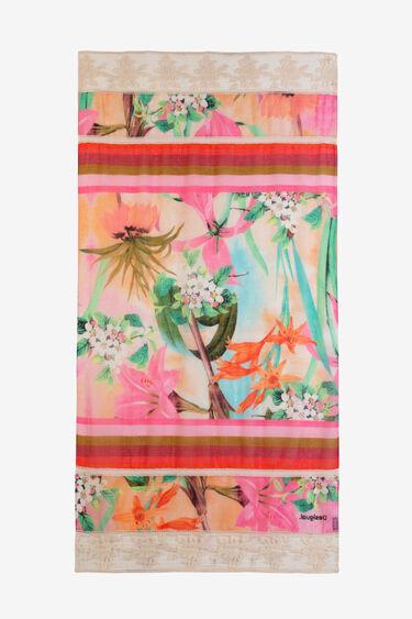 Fulard tropical amb punta | Desigual
