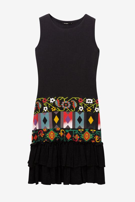 Ruffled Frieze Print Dress Elisabet | Desigual