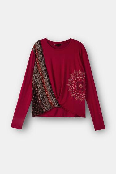 Koszulka z ornamentalnymi zdobieniami i mandalą | Desigual