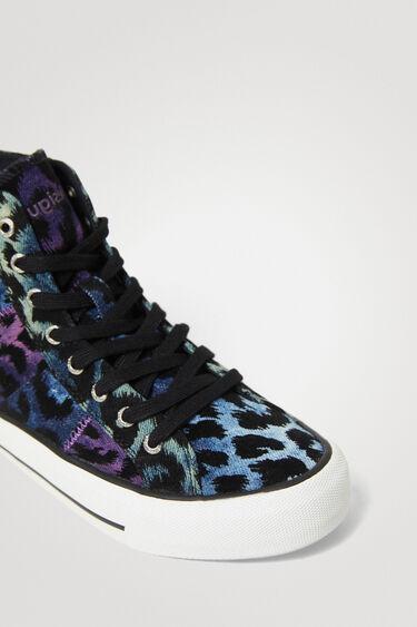 Sneakers hoher Schaft Leopard | Desigual