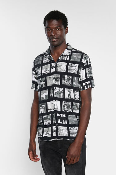 Short sleeve shirt post cards   Desigual