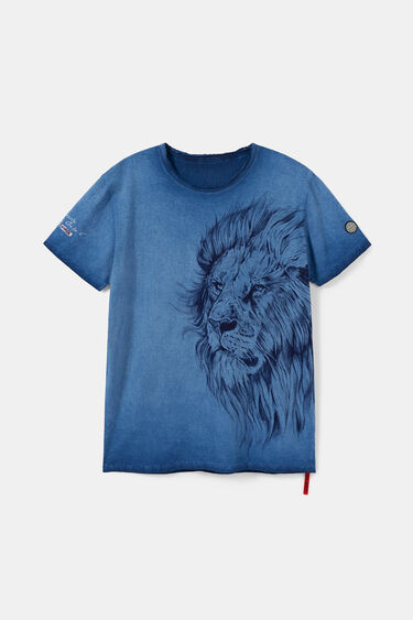 T-shirt met grote bolimania-leeuw | Desigual