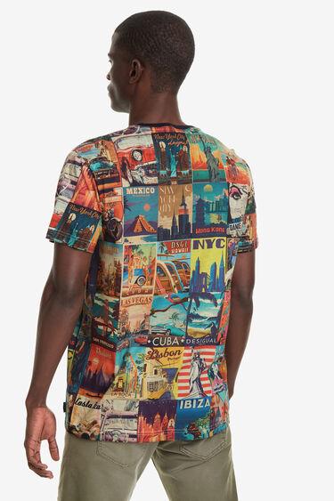 World post card T-shirt | Desigual