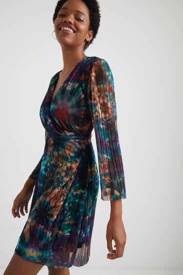 Vestito corto plissettato arty | Desigual