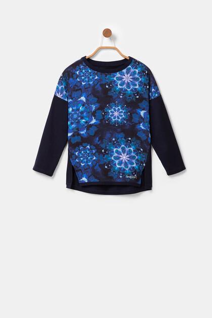 Pullover mit Mandalas in Batik-Optik