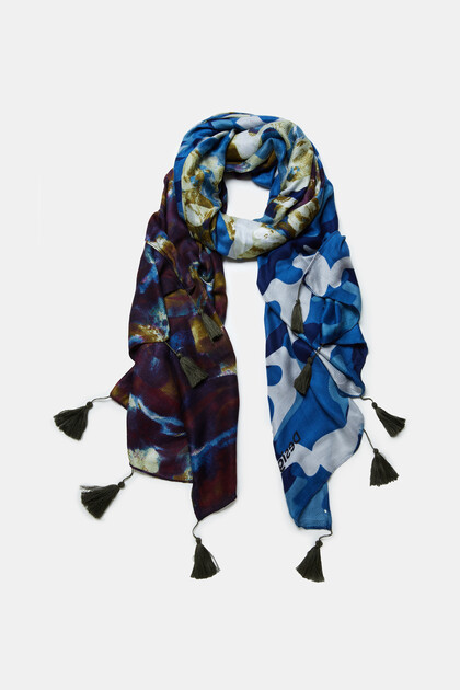 Foulard rectangular camoflower