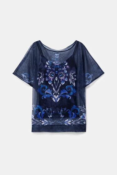 Oversize mesh T-shirt | Desigual