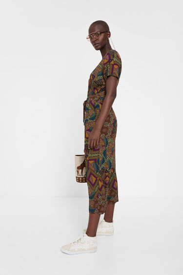 Granota estampada africana geomètrica | Desigual