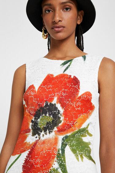 Robe dentelle et fleur   Desigual