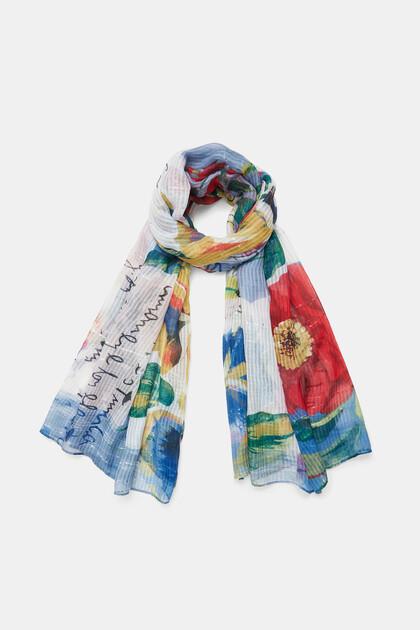 Rectangular foulard patch tropical